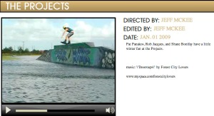 The Projects video by Jeff McKee
