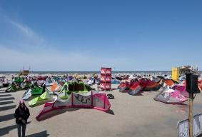 Kites all set up.